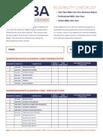 2015 11 MBA Eligibility Checklist Form v2