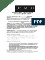 fashion portfolio modeling hub model contract