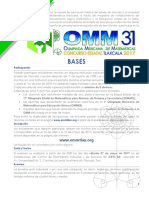 Convocatoria 31 OMM Tlaxcala