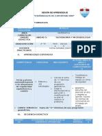 SESION DE APRENDIZAJE- 4° E - MODELO