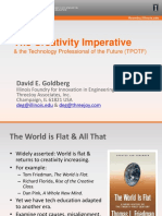 GOLDBERG David Creativity Imperative the Technology Professional of the Future