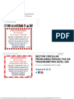 Sector Circular Problemas Resueltos de Trigonometria Nivel Uni PDF