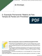 """5- Exposição Permanente """"Matéria Da Fala; Tampas de Panela Com Provérbios"""" _ Museu Nacional de Etnologia"""