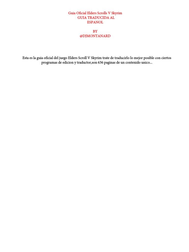 Guía oficial EldersScrolls Skyrim Español @Djmontanard