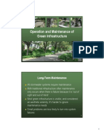 Operation and Maintenance of Green Infrastructure