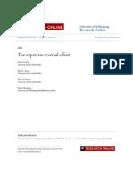 [P] [Sweller, Ayres, Kalyuga, Chandler, 2003] Expertise Reversal Effect