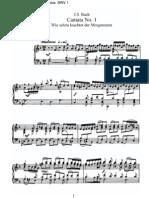 BWV1 - Wie schön leuchtet der Morgenstern