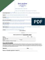 Back the Blue Registration Form