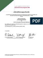 Urkunde AR U Oldenburg Ma W-Inf. 2014-04-14