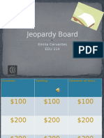 jeopary board