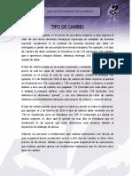 TIPO DE CAMBIO