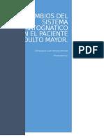 Cambios Del Sistema Estomatognático en El Paciente Adulto Mayor