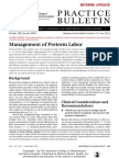 Practice Bulletin No 127 Management of Preterm Labor