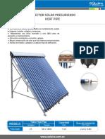 Catalogo Colector Solar Presurizado Heat Pipe