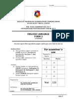 English Form 2 Mid Year