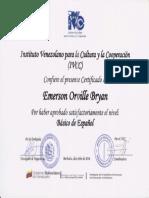 IVCC - Certificate (Basico II)