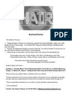 Hair Audition Packet