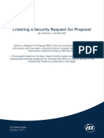 Creating a Security Request for Proposal