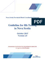 Guideline for Rh Testing in Nova Scotia