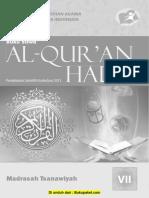 Buku Al-Qur'an Hadis Kelas 7