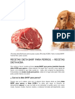 Barf Recetas