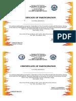 Certificates Fire Prevention