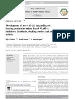 Development of Novel (1-H) Benzimidazole Bearing Pyrimidine-trione Based MAO-Inhibitor