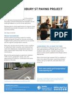 Roxbury Paving factsheet from SDOT