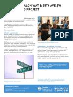 SDOT fact sheet for Avalon paving