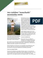 Nu-climber _manchado_ Santo Monte _ Ao Ar Livre