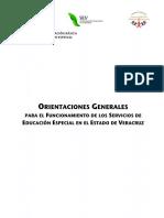 Orientaciones Servicio Educ Especial Veracruz