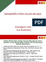 Manajemen Stres Dalam Belajar