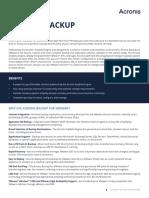 AcronisBackupVMware Datasheet en-US