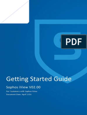 Sophos IView -Getting Started Guide | Virtual Machine | Usb Flash Drive