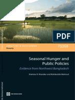 Khandker Mahmud Seasonal Hunger WB