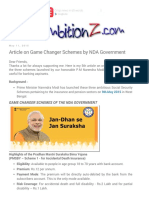 Article on Game Changer Schemes by NDA Government