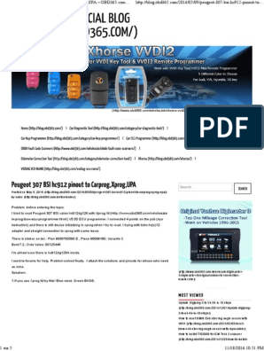 307 Bsi Pinout | Computer Hardware | Computer Engineering