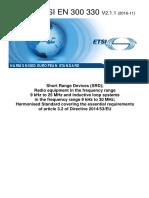 ETSI EN 300 330 V2.1.1 (2016-11)