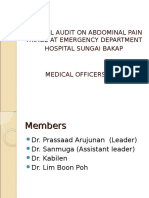 Clinical Audit on Abdominal Pain Triage in Emergency