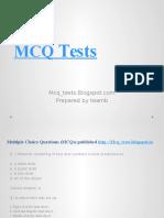 MCQ Tests