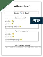 Salut French - Leçon 1