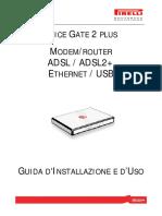 GUIDA D'INSTALLAZIONE E D'USO ALICE GATE 2 PLUS MANUALE D'USO