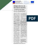 Novidades do mes de abril no IES García Barbón