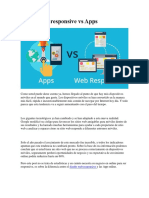 Diseño Web Responsivo vs Apps