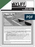 Waste Water Treatment Plants Data sheet