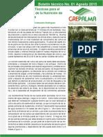 Crterios e Bases Técnicas Para El Manejo Integrado de La Nutrición de La Palma de Aceite