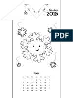 Patchimals Calendar 2015 Start Monday Esp