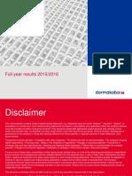 Analyst Presentation Fy1516 PDF Data