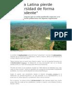 América Latina Pierde Biodiversidad de Forma
