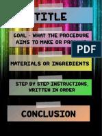procedural writing poster